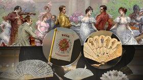 Plesání v Praze 19. století: Muži i ženy si zapisovali taneční protějšky, dámám nesměl chybět vějíř