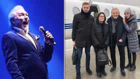 Oslabený Gott letěl s Kubišovou na Slovensko: Tryskáčem za 115 tisíc