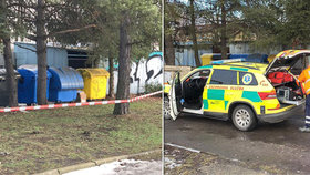 Šok u vlakového nádraží v Kladně: V kontejneru našli mrtvolu!
