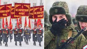 Přehlídka v -18°C. Petrohrad uctil oběti nacistické blokády včetně Putinova bratra