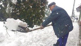 Sněhová kalamita na jižní Moravě: Odklízení je sisyfovská práce, tvrdí zasypaní obyvatelé