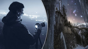 Fantastická podívaná nad Alpami! Pražský fotograf ulovil Orion z jeskyně, ocenila ho i NASA