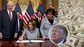Trump nechal 800 tisíc úředníků bez peněz. Kongres ho obešel a přidal jim na platech