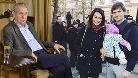 Rozněžnělý otec Hilšer promluvil o dceři i nové kandidatuře. A šije do Zemana