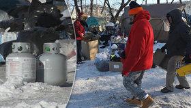 V Chicagu mrzne víc než na Antarktidě: Samaritán zaplatil 70 bezdomovcům hotel