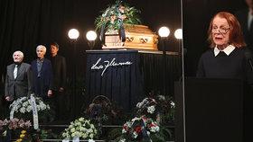 VIDEO: Nejkrásnější řeč na pohřbu Munzara pronesla Janžurová. Její slova nešlo neoplakat