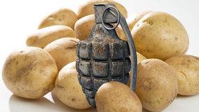 "V Hongkongu našli ""výbušné"" brambory. Z Francie s nimi dorazil i stoletý granát"