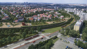 VIZUALIZACE: Takové bude zastřešení Spořilovské spojky. Vyřešily se připomínky obyvatel