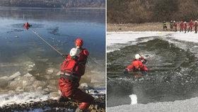 O víkendu se oteplí! Hasiči varují: Jak poznat bezpečný led? Co dělat, když se proboříte?