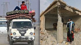 Lidé se po letité válce vracejí domů. Torza budov ve zničené Sýrii nepoznávají