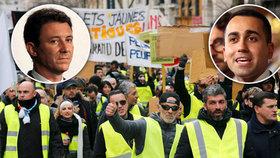 Mezi Francií a Itálií zuří největší spor od dob Mussoliniho. Začal u žlutých vest