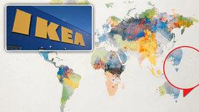 IKEA schytává nálož kritiky. Na mapě světa za 999 korun vynechala Nový Zéland