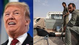 Dobyli jsme poslední baštu Islámského státu, ohlásil Trump. Milice ale stále bojují