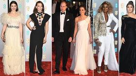 Kate v bílém a se šperky po Dianě ovládla ceny BAFTA: Hollywoodské hvězdy tiše zíraly
