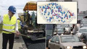 Vláda schválila krajům čtyři miliardy na opravy silnic. Půlku dá Brusel