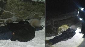 Chomutovan chtěl spáchat sebevraždu umrznutím ve sněhu! Po příjezdu policie si to rozmyslel