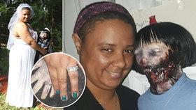 Pekelná svatba! Dívka si vzala »za ženu« zombie. Je to láska, říká