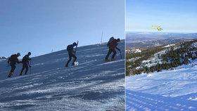 Běžkař (53) se u Sněžky zřítil ze srázu: Utrpěl těžká zranění