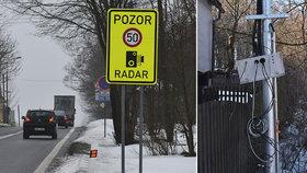 Radary vylétly do povětří! Měřiče rychlosti ve Studánce u Varnsdorfu někomu leží pořádně v žaludku