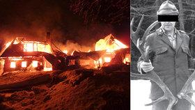 Tragický požár v Krkonoších: V chalupě uhořel hajný? Hasiči se k místu nemohli dostat