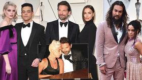 "Kdo s kým na Oscarech: ""Trojka"" Bradleyho Coopera, Gaga na ocet a milenci z Rhapsody"