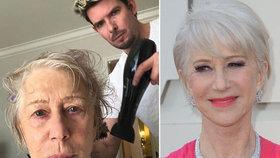 Královna Helen Mirrenová (73) před Oscary bez příkras: Takhle vypadala u kadeřníka