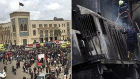 Těla poházená po zemi, 25 mrtvých a dým: U nádraží explodoval vlak, pak vlétl do bariéry