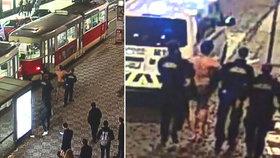 Cizinec v trenýrkách řádil v tramvaji: Obtěžoval spolucestující, strážníkům daleko neutekl