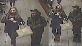 Že není jejich, je nezajímalo: Policisté pátrají po zlodějském páru, který vzal cizí batoh s notebookem