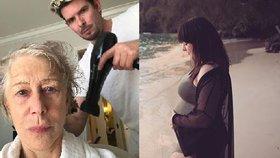 Ewa Farna před porodem, Helen Mirren ukázala pravou tvář. Co dalšího prozradily celebrity na síti?