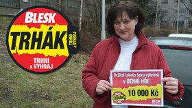 Radost Svatavy Plašťákové (47) z Ostravy z výhry v Trháku: Za 10 tisíc usuším prádlo