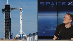 Loď miliardáře Muska doletěla do cíle: Kosmonautům dovezla zásoby