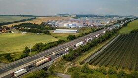 Potíže na dálnici D1: U Brna směrem na Vyškov ji uzavřela nehoda