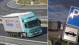Na 50 tisíc kamionů 2,5 tisíce parkovacích míst: Stání hledám dvě hodiny, zuří tirák Lukáš