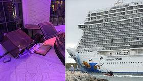Děs, chaos a krev na obřím parníku. Loď s 6000 lidmi převracel vítr do moře
