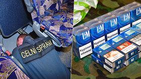 Trefa do černého! Pražští celníci si posvítili na autobus z Ukrajiny, který pašoval tisíce cigaret
