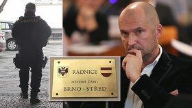 Zásah na radnici Brno-střed: Radního Švachulu (ANO) zadržel protimafiánský útvar policie