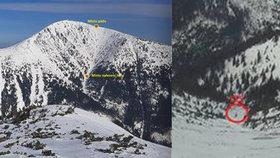 Drama na Sněžce: Vítr smetl dvojici turistů, záchrana přišla až za rozbřesku