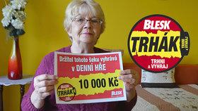 Výherkyně Trháku Blesku Libuše Jirásková (72): Za výhru zkrášlí zahradu
