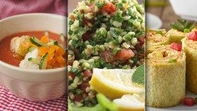 Pusťte si do kuchyně svět! Vyzkoušejte gazpacho, enchiladas nebo tabouleh