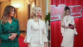 ed78e9c2ae5 Babišová měla u Trumpa stejné šaty jako před měsícem Kerndlová!