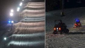 V Deštném v Orlických horách zemřel lyžař: Tragédii nezabránila ani helma