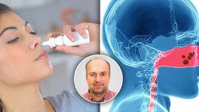 Lékař varuje před spreji do nosu: Když to s nimi při rýmě přeženete, hrozí operace!