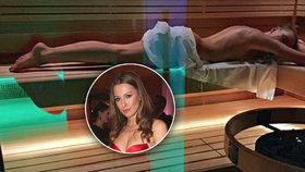 Sporťačka Novy Puhajková nahá v sauně! Dáváme jí palec nahoru