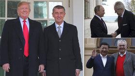 Zeman: Babiš navázal s Trumpem osobní vztah, já jej mám s Putinem a Si Ťin-pchingem