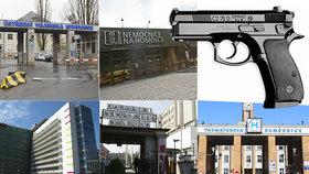 Jak jsou na tom pražské nemocnice s ostrahou? Na střelné zbraně příliš nespoléhají