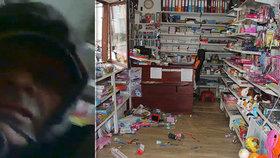 VIDEO: Lupič-umělec se vkradl do papírnictví v Praze! Sebral notebook, vodovky i pastelky za dvacet tisíc