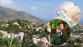 """Záhadný """"Robin Hood"""" rozdává obálky s penězi. Španělům je v noci hází do schránek"""