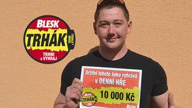 Výherce Trháku z Berounska David Král (26): Za 10 tisíc radost nadvakrát!