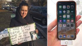 Vykutálená falešná žebračka: Měla u sebe iPhone za 22 tisíc, luxusní šperky i kabelku